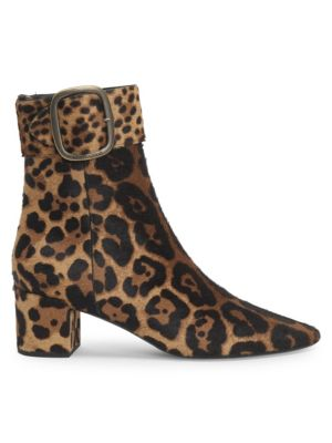 Joplin Leopard Print Suede Booties