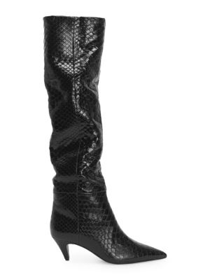 Charlotte Python Slouch Boots