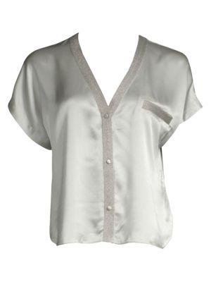 Joanie Silk Pajama Top