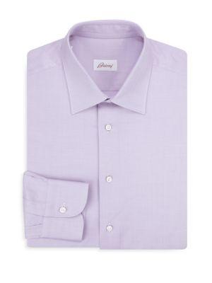 Classic-Fit Herringbone Cotton Dress Shirt