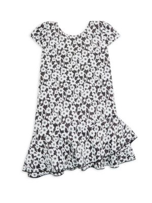 ZOE | Girl's Gemini Gaby Metallic Floral Dress | Goxip