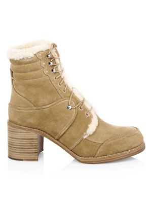 Leo Shearling-Lined Suede Booties