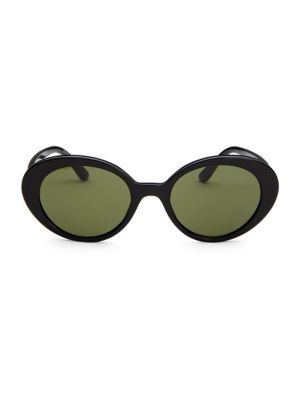 OLIVER PEOPLES | 50MM Parquet Oval Sunglasses | Goxip