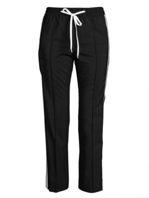 Tela Wool Mohair Tailored Striped Joggers