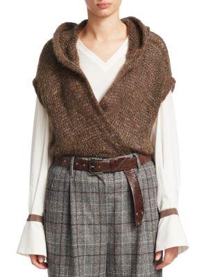 Hooded Surplice Sweater