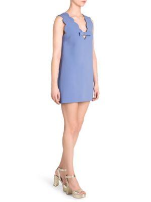 Cady Scalloped Mini Dress