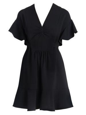 Flutter Sleeve Mini Dress