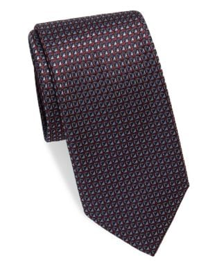 Geo Diamond Silk Tie
