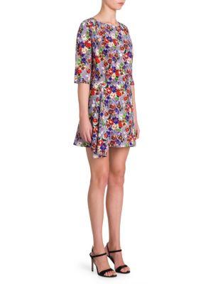 Silk Floral Mini Dress