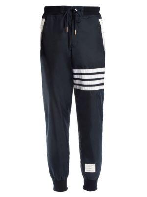 Stripe Cashmere & Cotton Sweatpants