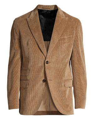 ELEVENTY Ribbed Corduroy Slim-Fit Blazer