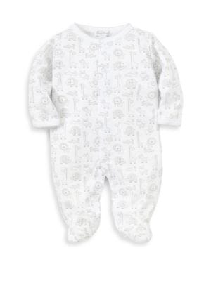 Baby's Jungle Out There Printed Cotton Footie