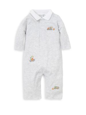 Baby Boy's Dig It Striped Cotton Coverall