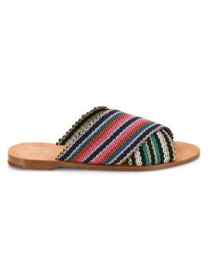 Cindi Multicolored Patterned Slides