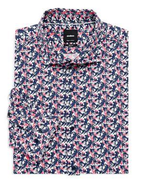 STRELLSON Sereno Printed Slim-Fit Dress Shirt
