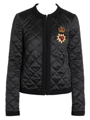 Diamond Quilted Sacred Heart Jacket