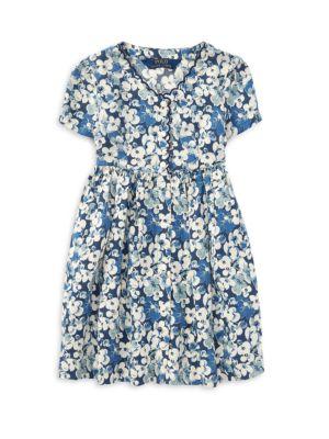 RALPH LAUREN | Little Girl's Short-Sleeve Floral Dress | Goxip