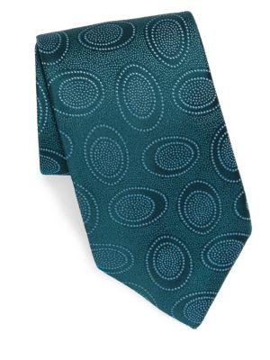 Silk Bubble-Print Tie