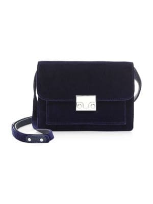 Mini Minimal Rider Velvet Shoulder Bag