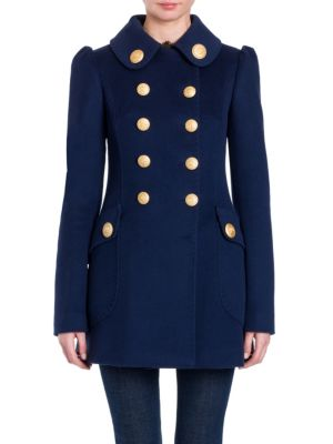 Military Double-Breasted Wool Coat