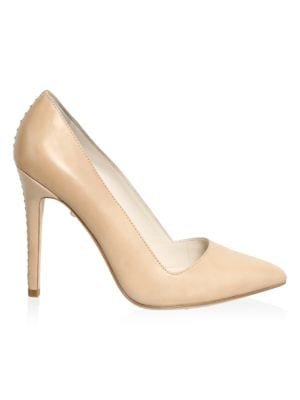 Dina Whipstitch Leather Pumps