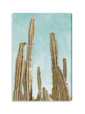 Gold Cactus Canvas Print
