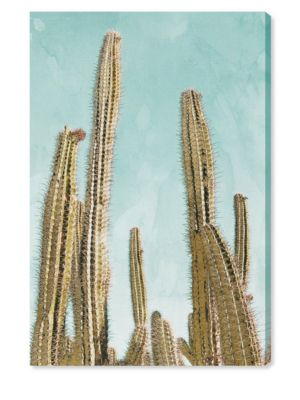 Gold Cactus Canvas Art