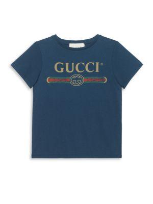 Little Kid's & Kid's Cotton Logo T-Shirt