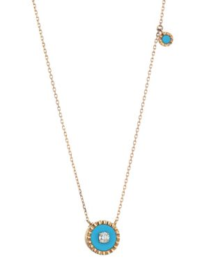 Coco Femme 18K Rose Gold, Diamond & Turquoise Necklace
