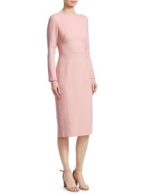 Seamed Wool Sheath Dress
