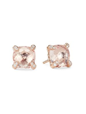 DAVID YURMAN Chatelaine Morganite Stud Earrings with Diamonds