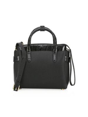 NANCY GONZALEZ Cristie Leather & Croc Mini Bag
