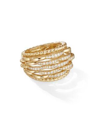 Tides 18K Yellow Gold & Diamond Ring