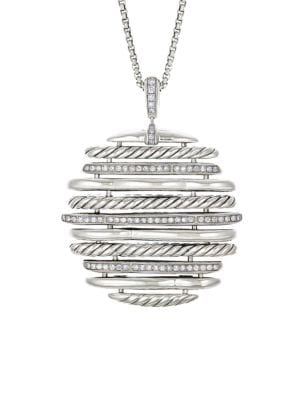 Tides Sterling Silver & Diamond Pendant Necklace