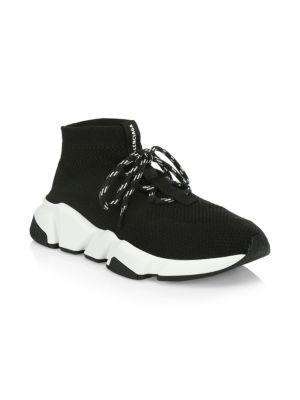 Speed Knit Sneakers - Black Size 8