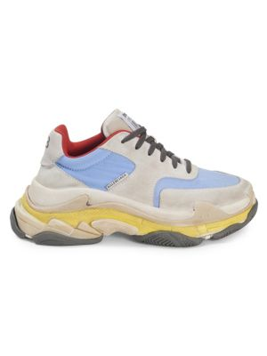 Triple S Runner leather and mesh sneakers