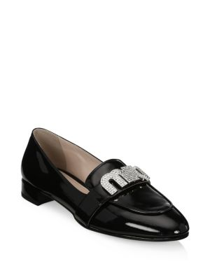 Crystal Patent Leather Loafers