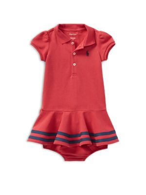 Baby's Two-Piece Cotton Polo Dress and Bloomers Set