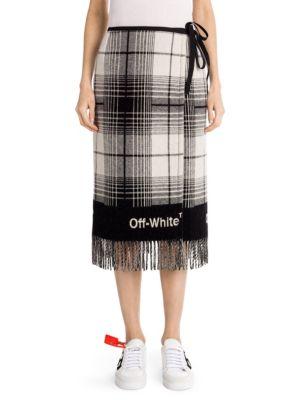 Check Blanket Skirt
