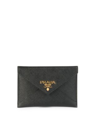 Saffiano Leather Envelope Wallet