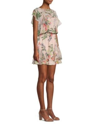 Acadia Silk-Blend Popover Dress