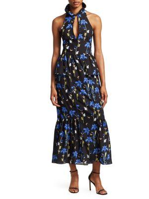 Jasmine Keyhole-Neck Gown