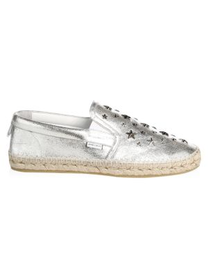 Glitter Stars Leather Espadrille