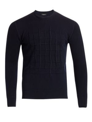 Z ZEGNA French Terry Embroidered Sweater