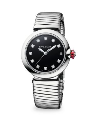 BVLGARI Lucea Stainless Steel & Diamond Bracelet Watch