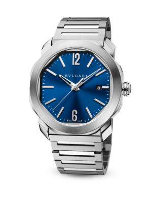 BVLGARI STAINLESS STEEL OCTO ROMA WATCH 41MM