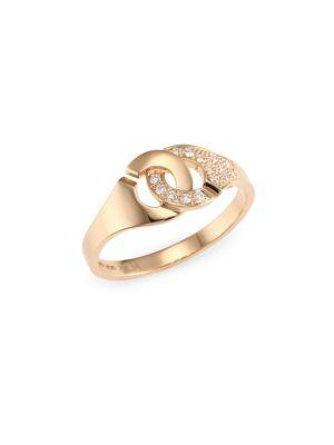 DINH VAN Menottes 18K Rose Gold Rigid Ring