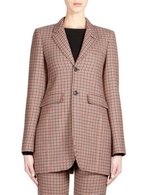 Wool Check Blazer
