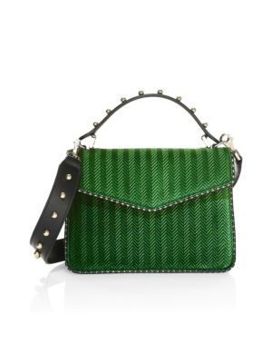 Mini Pixie Spike Velvet Leather Satchel