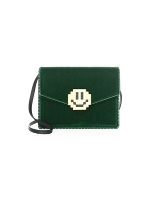 Lulu Mini Velvet Smile Shoulder Bag